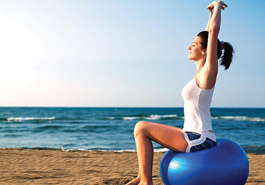 pilates-beach